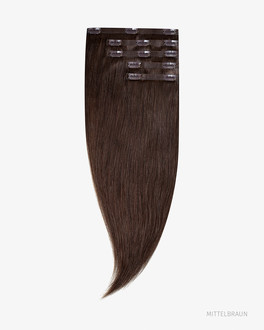 "Clip In Human Hair Extensions 18"" 140g"